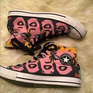 *Converse* Andy Warhol Marilyn Monroe high tops